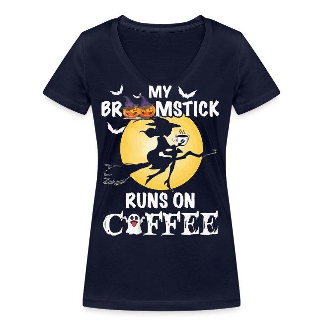 My broomstick runs on coffee