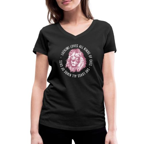 All kinds of cats - Women's Organic V-Neck T-Shirt by Stanley & Stella