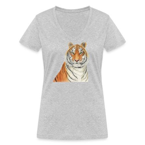 Tigre,Tiger,Wildlife,Natura,Felino - T-shirt ecologica da donna con scollo a V di Stanley & Stella