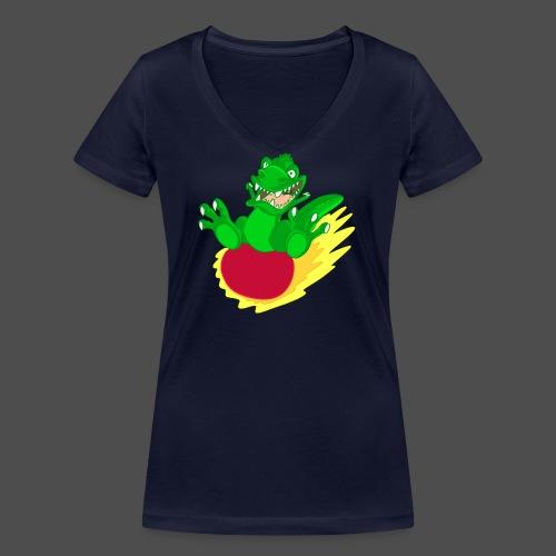 T-rex meteorite - T-shirt ecologica da donna con scollo a V di Stanley & Stella