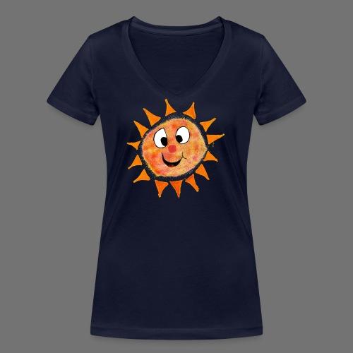 Słońce - Ekologiczna koszulka damska z dekoltem w serek Stanley & Stella