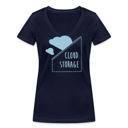 Cloud Storage - Frauen Bio-T-Shirt mit V-Ausschnitt von Stanley & Stella