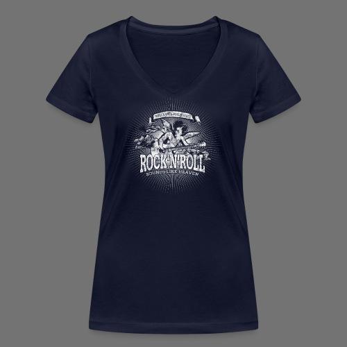 Rock 'n' Roll - Sounds Like Heaven (hvid) - Økologisk Stanley & Stella T-shirt med V-udskæring til damer