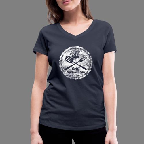 Grill Instructor - Frauen Bio-T-Shirt mit V-Ausschnitt von Stanley & Stella