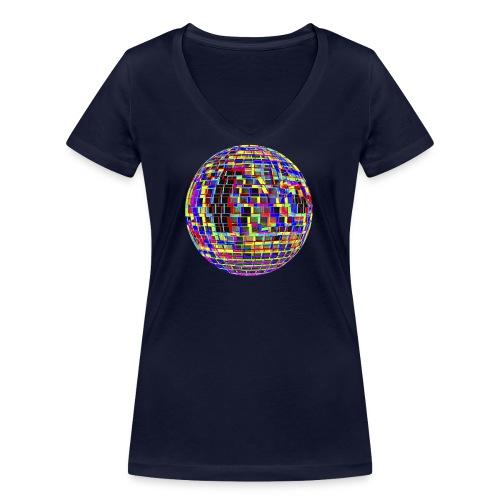 Boule à facettes psychédélique - T-shirt bio col V Stanley & Stella Femme