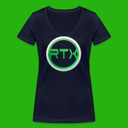 Logo SnapBack - Women's Organic V-Neck T-Shirt by Stanley & Stella