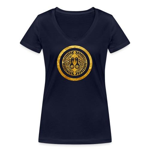 Ikko Ikki Mon Japanese clan - Women's Organic V-Neck T-Shirt by Stanley & Stella