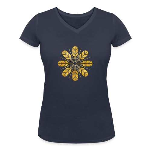 Inoue clan kamon in gold - Women's Organic V-Neck T-Shirt by Stanley & Stella