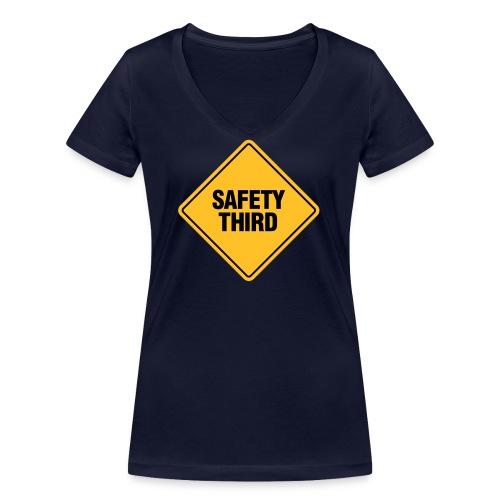 SAFETY THIRD - Women's Organic V-Neck T-Shirt by Stanley & Stella