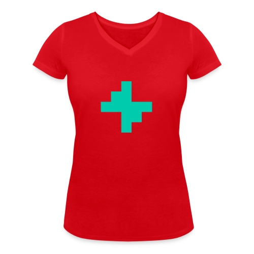 Bluspark Bolt - Women's Organic V-Neck T-Shirt by Stanley & Stella