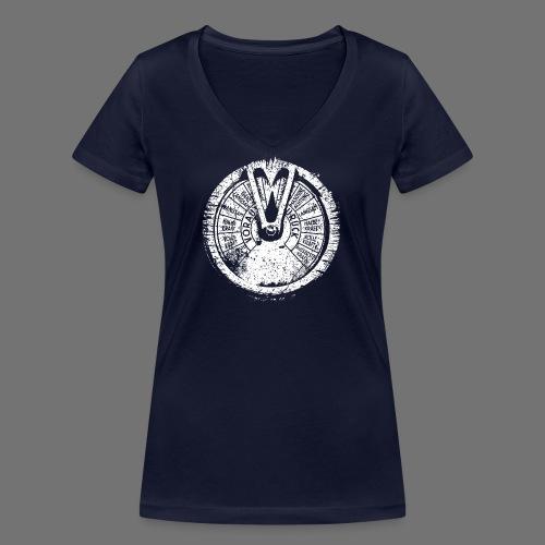 Maschinentelegraph (hvid oldstyle) - Økologisk Stanley & Stella T-shirt med V-udskæring til damer