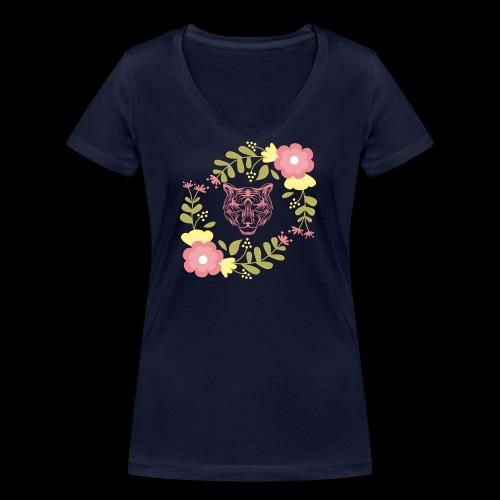 Tee-shirt TIGRE - T-shirt bio col V Stanley & Stella Femme