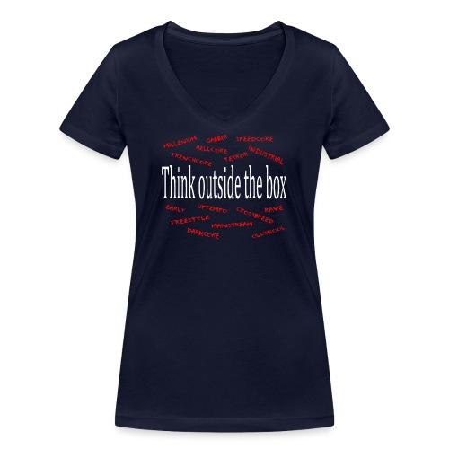 Think outside the box - Harder Styles - Vrouwen bio T-shirt met V-hals van Stanley & Stella