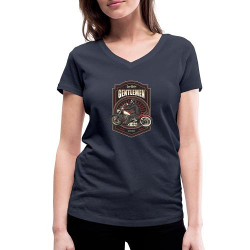 Gentlemen Biker Vintage - T-shirt ecologica da donna con scollo a V di Stanley & Stella