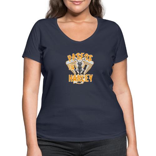 Paseos en H a r l e y - Camiseta ecológica mujer con cuello de pico de Stanley & Stella