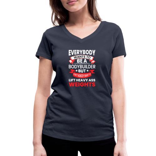 EVERYBODY WANTS TO - Frauen Bio-T-Shirt mit V-Ausschnitt von Stanley & Stella
