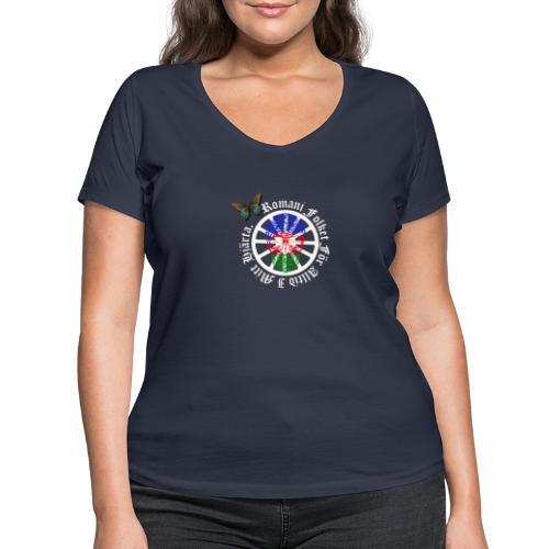 LennyhjulRomaniFolketivitfjerliskulle - Ekologisk T-shirt med V-ringning dam från Stanley & Stella