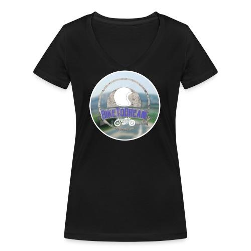 BikeToDream - T-shirt bio col V Stanley & Stella Femme
