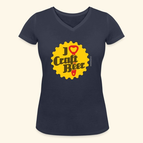 Craft Beer T-Shirt Design I Love Craft Beer - Frauen Bio-T-Shirt mit V-Ausschnitt von Stanley & Stella
