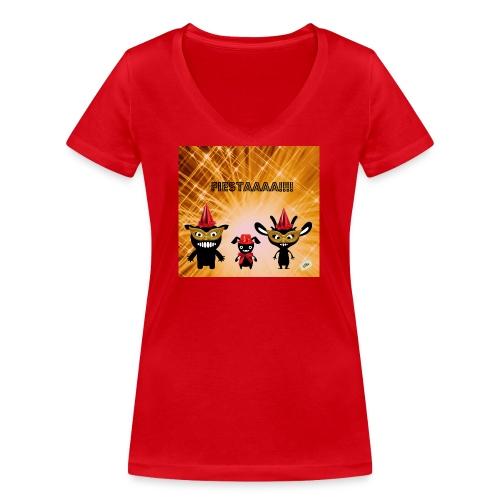 Fiestaaa - T-shirt bio col V Stanley & Stella Femme
