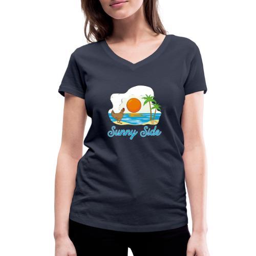 Sunny side - T-shirt ecologica da donna con scollo a V di Stanley & Stella