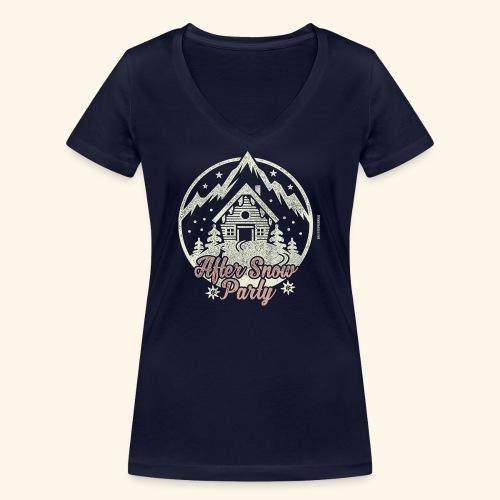 Apres Ski Party T Shirt After Snow Party - Frauen Bio-T-Shirt mit V-Ausschnitt von Stanley & Stella