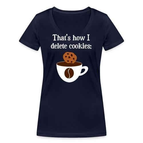 Cookies Kaffee Nerd Geek - Frauen Bio-T-Shirt mit V-Ausschnitt von Stanley & Stella