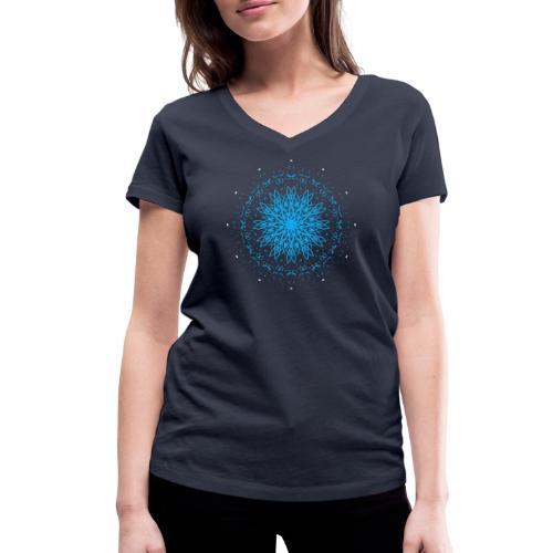 Mandala of ice - Women's Organic V-Neck T-Shirt by Stanley & Stella