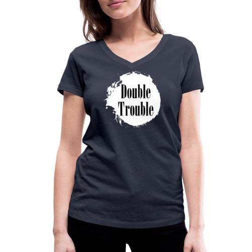Double trouble - Frauen Bio-T-Shirt mit V-Ausschnitt von Stanley & Stella