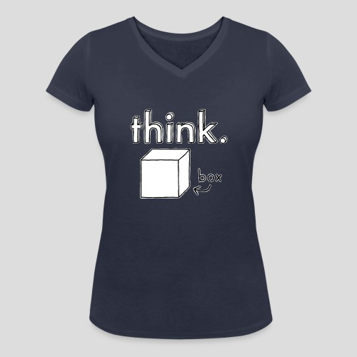 Think Outside The Box Illustration - Women's Organic V-Neck T-Shirt by Stanley & Stella