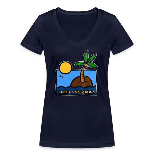 Vacation-png - T-shirt ecologica da donna con scollo a V di Stanley & Stella