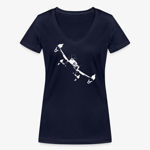 quadflyby2 - Women's Organic V-Neck T-Shirt by Stanley & Stella