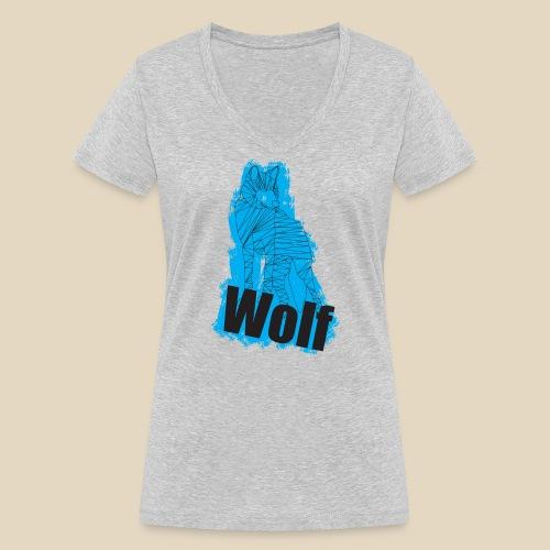 Blue Wolf - T-shirt bio col V Stanley & Stella Femme