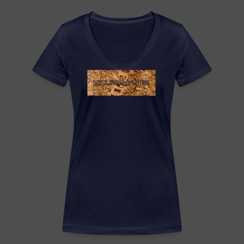 KILLSCHALTER Track - Ekologiczna koszulka damska z dekoltem w serek Stanley & Stella