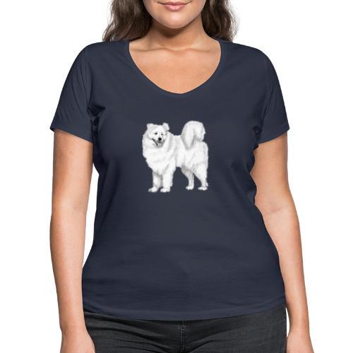 samoyed - Økologisk Stanley & Stella T-shirt med V-udskæring til damer