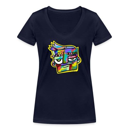 Rilla colour face - Vrouwen bio T-shirt met V-hals van Stanley & Stella