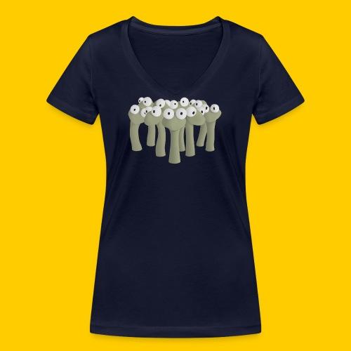 Worm gathering - Ekologisk T-shirt med V-ringning dam från Stanley & Stella