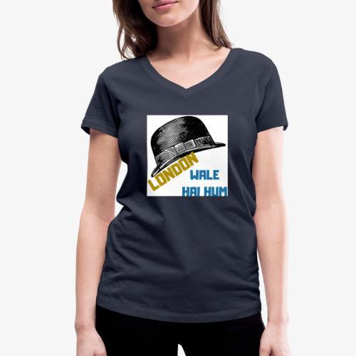 LONDON WALE - Ekologisk T-shirt med V-ringning dam från Stanley & Stella