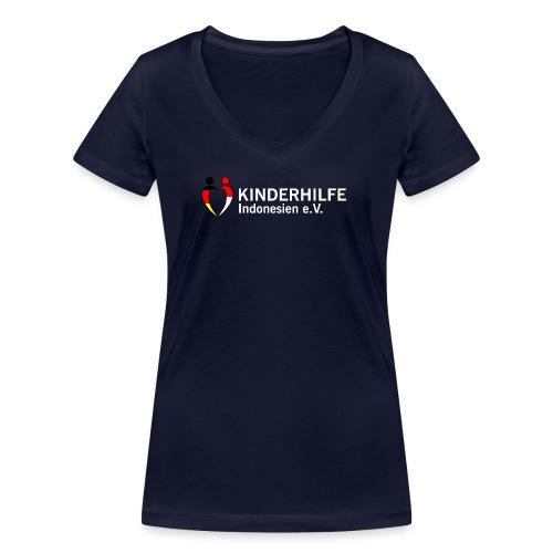 Kinderhilfe_300dpi_white - Frauen Bio-T-Shirt mit V-Ausschnitt von Stanley & Stella