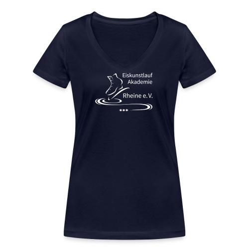 EARheine Logo weiss - Frauen Bio-T-Shirt mit V-Ausschnitt von Stanley & Stella