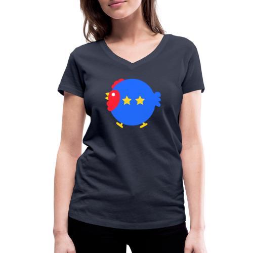 COQ 2 ETOILES - T-shirt bio col V Stanley & Stella Femme