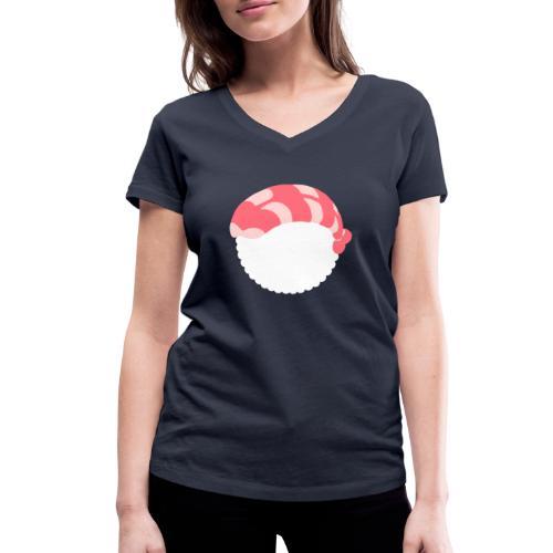 SUSHI CREVETTE - T-shirt bio col V Stanley & Stella Femme
