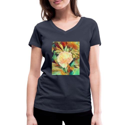Flower - Frauen Bio-T-Shirt mit V-Ausschnitt von Stanley & Stella