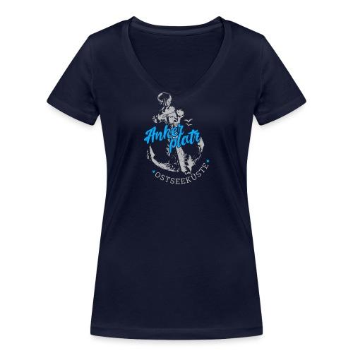 Ankerplatz - Frauen Bio-T-Shirt mit V-Ausschnitt von Stanley & Stella