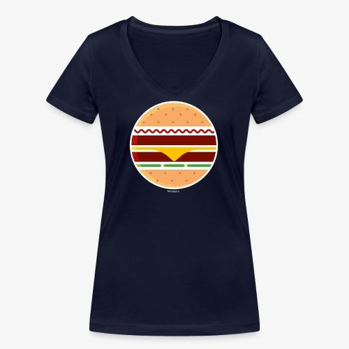 Circle Burger - T-shirt ecologica da donna con scollo a V di Stanley & Stella