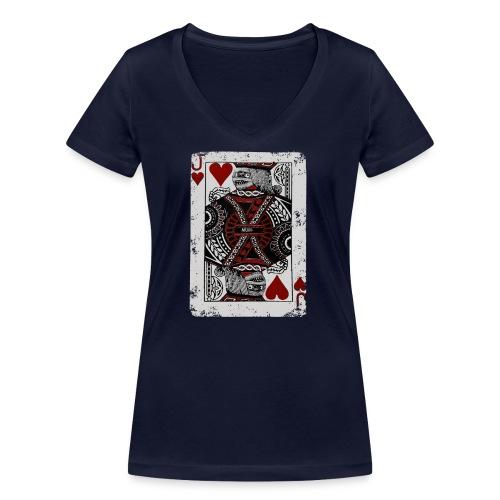 Joker Mummy - T-shirt ecologica da donna con scollo a V di Stanley & Stella