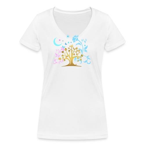 Mystic Tree - Frauen Bio-T-Shirt mit V-Ausschnitt von Stanley & Stella