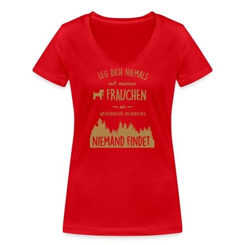 Vorschau: Mein Frauchen - Frauen Bio-T-Shirt mit V-Ausschnitt von Stanley & Stella