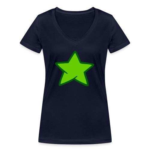 Estrella verde - Camiseta ecológica mujer con cuello de pico de Stanley & Stella