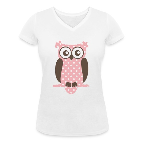 Eule - Frauen Bio-T-Shirt mit V-Ausschnitt von Stanley & Stella